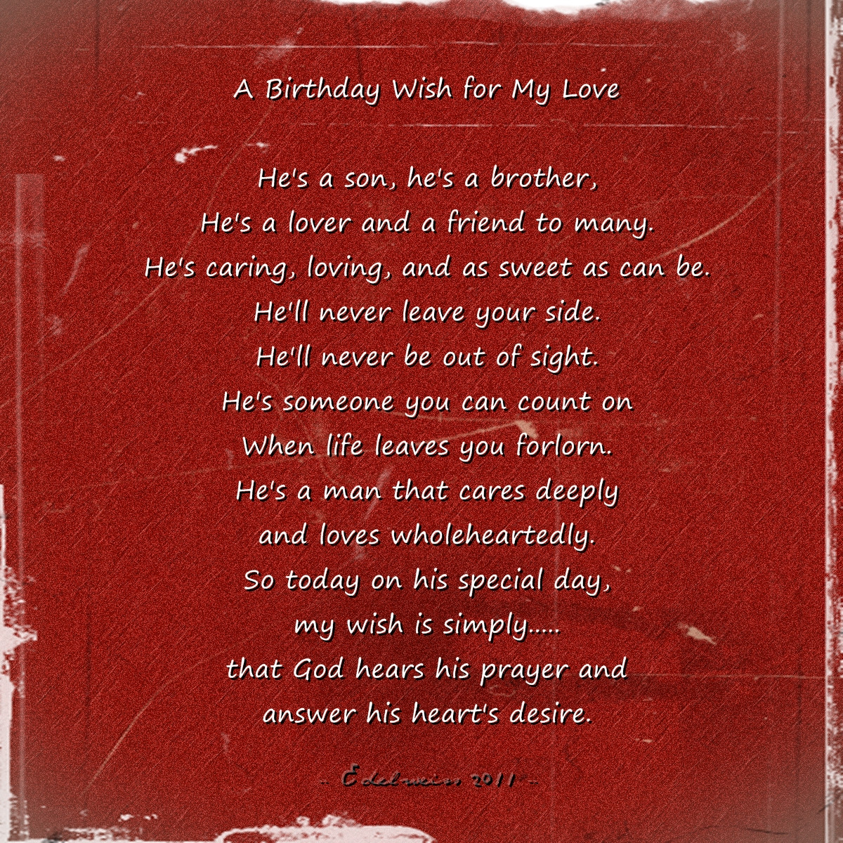 Best ideas about Happy Birthday My Love Quotes For Him . Save or Pin Birthday Quotes Love Now.