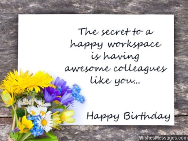Best ideas about Happy Birthday Quotes For Coworker . Save or Pin Birthday Wishes for Colleagues Quotes and Messages Now.