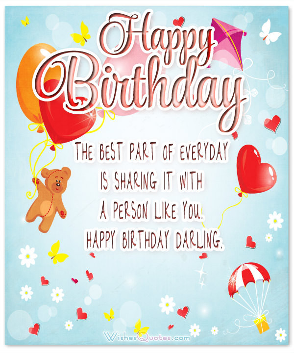 Best ideas about Happy Birthday Quotes For Girlfriend . Save or Pin Heartfelt Birthday Wishes for your Girlfriend – WishesQuotes Now.