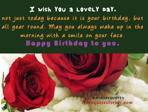 Best ideas about Happy Birthday Quotes For Girlfriend . Save or Pin 25 best ideas about Happy birthday for her on Pinterest Now.