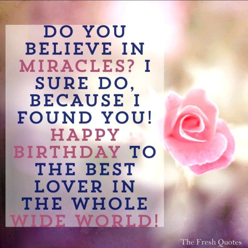 Best ideas about Happy Birthday Quotes For Girlfriend . Save or Pin 45 Cute and Romantic Birthday Wishes with Now.