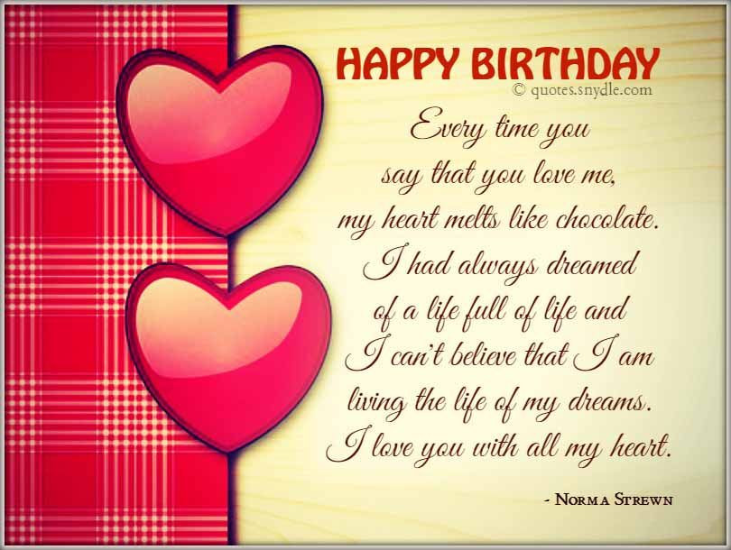 Best ideas about Happy Birthday Quotes For Girlfriend . Save or Pin Boyfriend Happy Birthday Quotes Now.