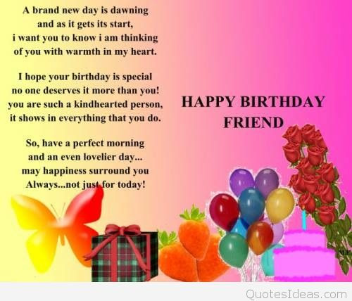 Best ideas about Happy Birthday Special Friend Quotes . Save or Pin Birthday Now.