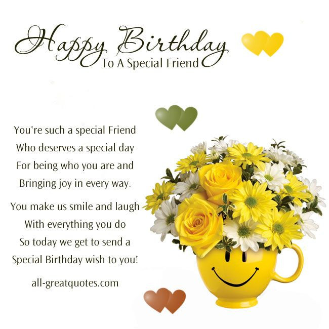 Best ideas about Happy Birthday Special Friend Quotes . Save or Pin verse for card best girl friend 80 birthday verse Now.