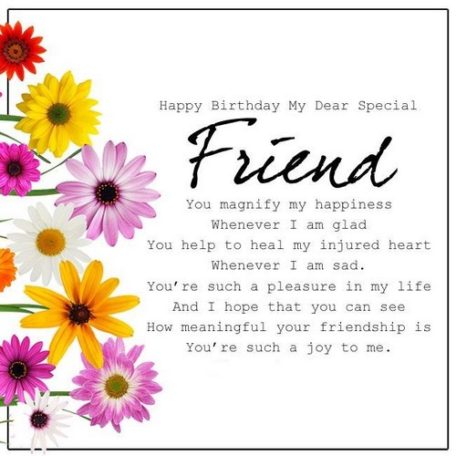 Best ideas about Happy Birthday Special Friend Quotes . Save or Pin 40 Birthday Wishes For Special Friend Now.