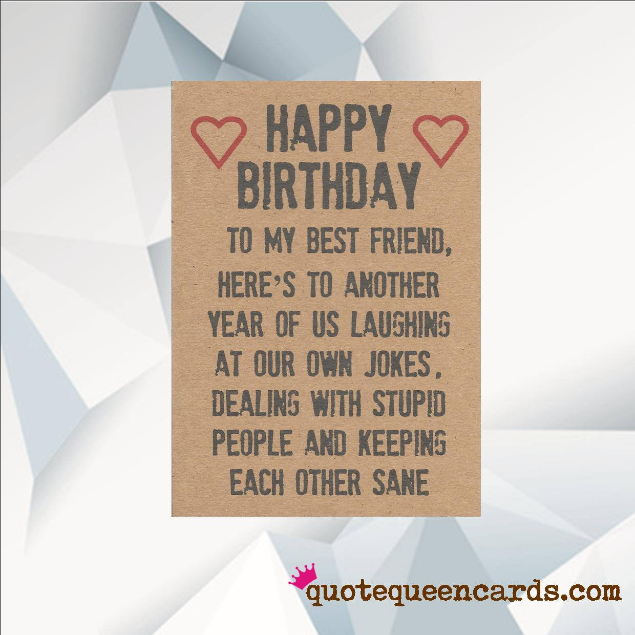 Best ideas about Happy Birthday To Friend Funny . Save or Pin Happy Birthday BEST FRIEND Funny Birthday Card For Friend Now.
