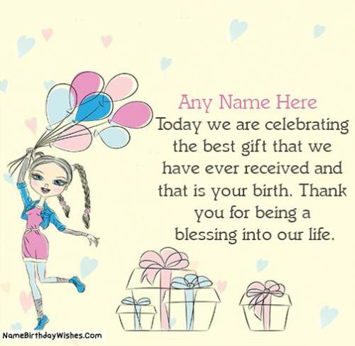 Best ideas about Happy Birthday To My Beautiful Daughter Quotes . Save or Pin Top Birthday Wishes For Daughter With Name & Now.