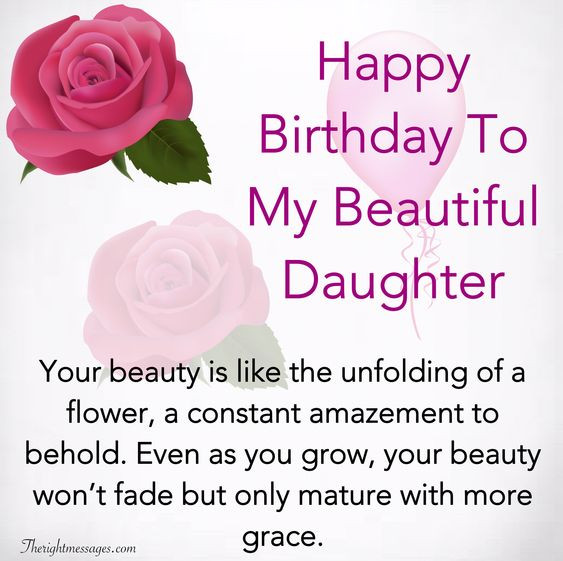 Best ideas about Happy Birthday To My Beautiful Daughter Quotes . Save or Pin Happy Birthday Wishes For Daughter Inspirational Now.