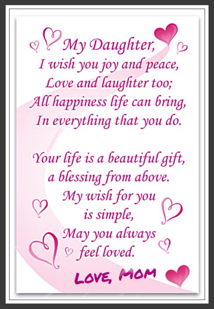 Best ideas about Happy Birthday To My Beautiful Daughter Quotes . Save or Pin Love Daughter Love to Daughter from Mom Now.