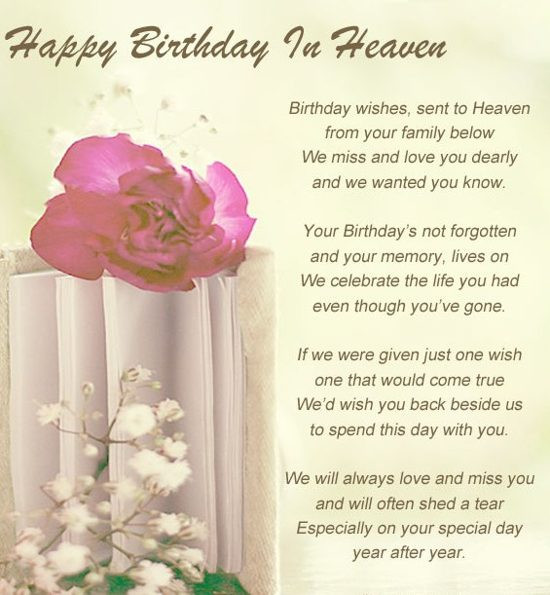 Best ideas about Happy Birthday To My Mom In Heaven Quotes . Save or Pin BIRTHDAY QUOTES FOR HUSBAND IN HEAVEN image quotes at Now.