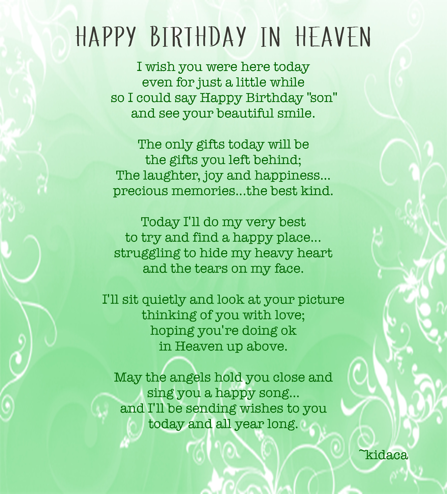 Best ideas about Happy Birthday To Someone Who Passed Away Quotes . Save or Pin Birthday Quotes Passed Away QuotesGram Now.