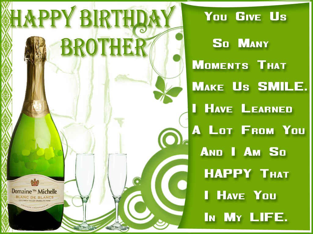 Best ideas about Happy Birthday Wishes For Brother . Save or Pin Happy birthday brother wishes HD images pictures photos Now.