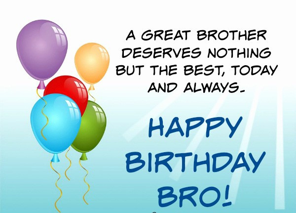 Best ideas about Happy Birthday Wishes For Brother . Save or Pin 200 Best Birthday Wishes For Brother 2019 My Happy Now.