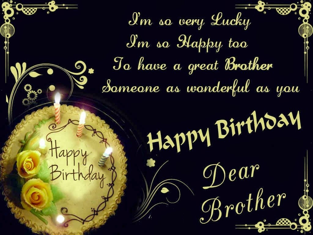 Best ideas about Happy Birthday Wishes For Brother . Save or Pin HD BIRTHDAY WALLPAPER Happy birthday brother Now.