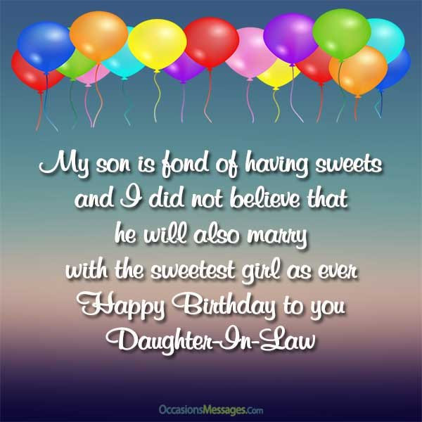 Best ideas about Happy Birthday Wishes For Daughter In Law . Save or Pin Birthday Wishes for Daughter in Law Occasions Messages Now.