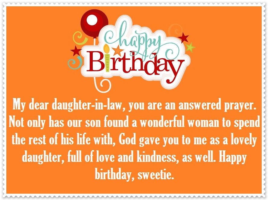 Best ideas about Happy Birthday Wishes For Daughter In Law . Save or Pin Daughter in Law Happy Birthday Quotes and Greetings Now.