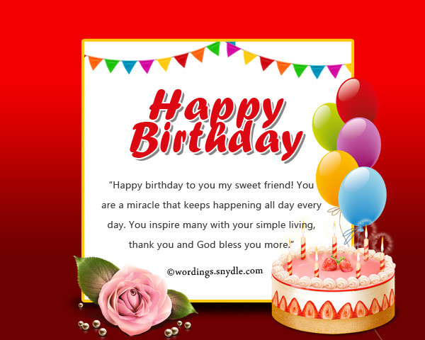 Best ideas about Happy Birthday Wishes For Facebook . Save or Pin Birthday wishes for friend on Now.