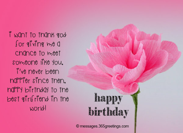 Best ideas about Happy Birthday Wishes For Girlfriend . Save or Pin Romantic Happy Birthday Wishes for Girlfriend Birthday Now.