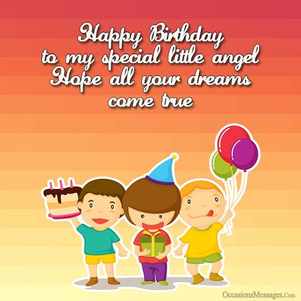 Best ideas about Happy Birthday Wishes For Kids . Save or Pin Happy Birthday Wishes for Kids Occasions Messages Now.