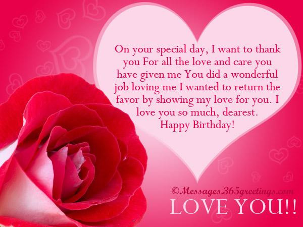 Best ideas about Happy Birthday Wishes For Lover . Save or Pin Love Birthday Messages 365greetings Now.