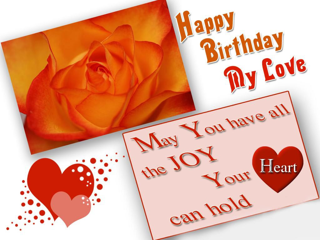 Best ideas about Happy Birthday Wishes For Lover . Save or Pin happy birthday lover quotes ecard wishes wallpaper Now.