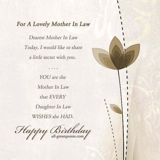 Best ideas about Happy Birthday Wishes For Mother In Law . Save or Pin motherinlaw happybirthday birthdaycards birthdaywishes Now.