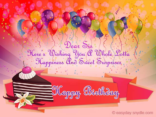 Best ideas about Happy Birthday Wishes For Sister . Save or Pin Birthday Wishes for Sister Easyday Now.