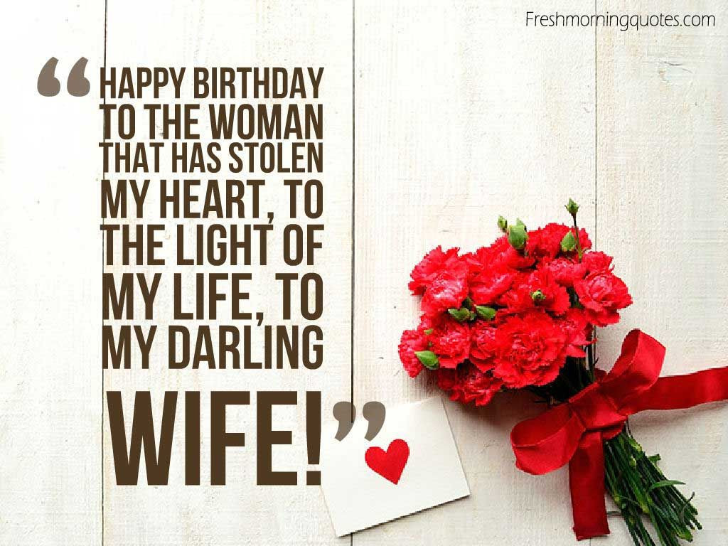 Best ideas about Happy Birthday Wishes For Wife . Save or Pin 50 Romantic Birthday Wishes for Wife Freshmorningquotes Now.