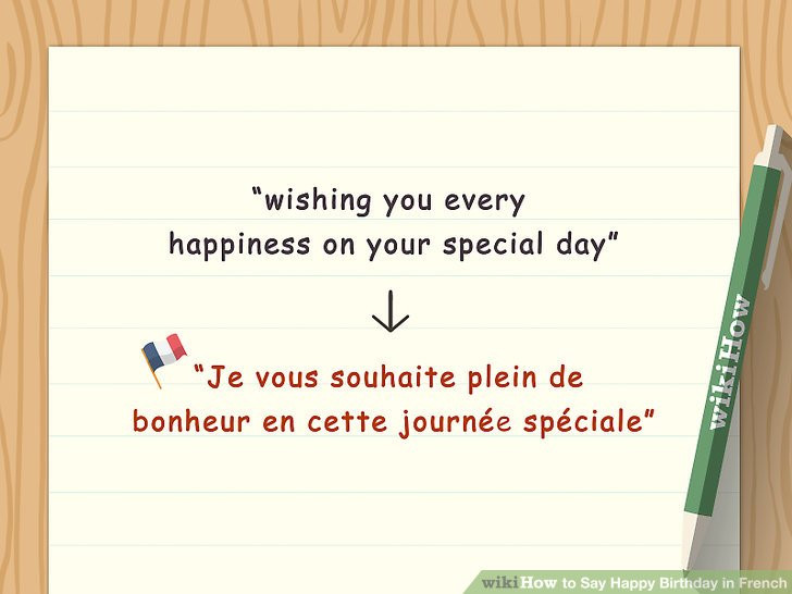 Best ideas about Happy Birthday Wishes In French . Save or Pin 4 Ways to Say Happy Birthday in French wikiHow Now.