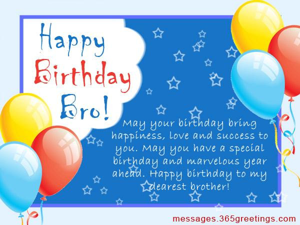 Best ideas about Happy Birthday Wishes To My Brother . Save or Pin Birthday Wishes for Brother 365greetings Now.