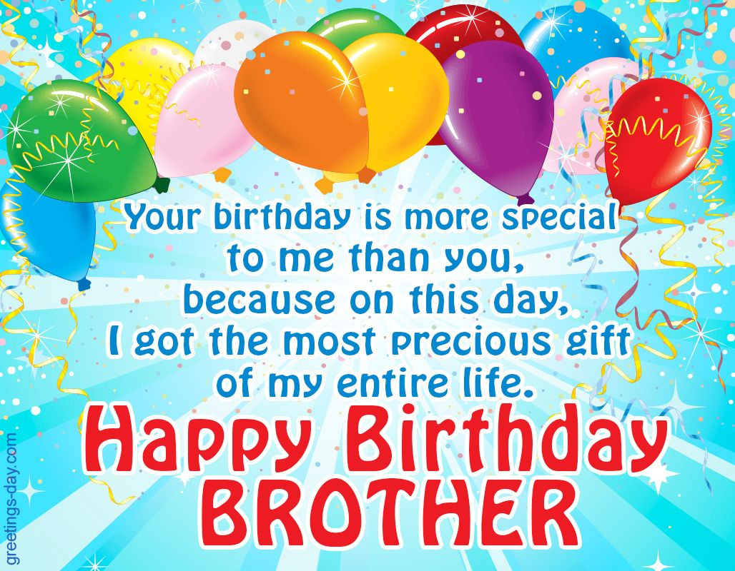 Best ideas about Happy Birthday Wishes To My Brother . Save or Pin Happy Birthday Brother Free Ecards Wishes in Now.