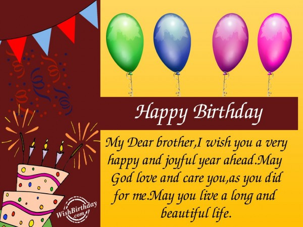Best ideas about Happy Birthday Wishes To My Brother . Save or Pin Birthday Wishes For Brother Birthday Now.