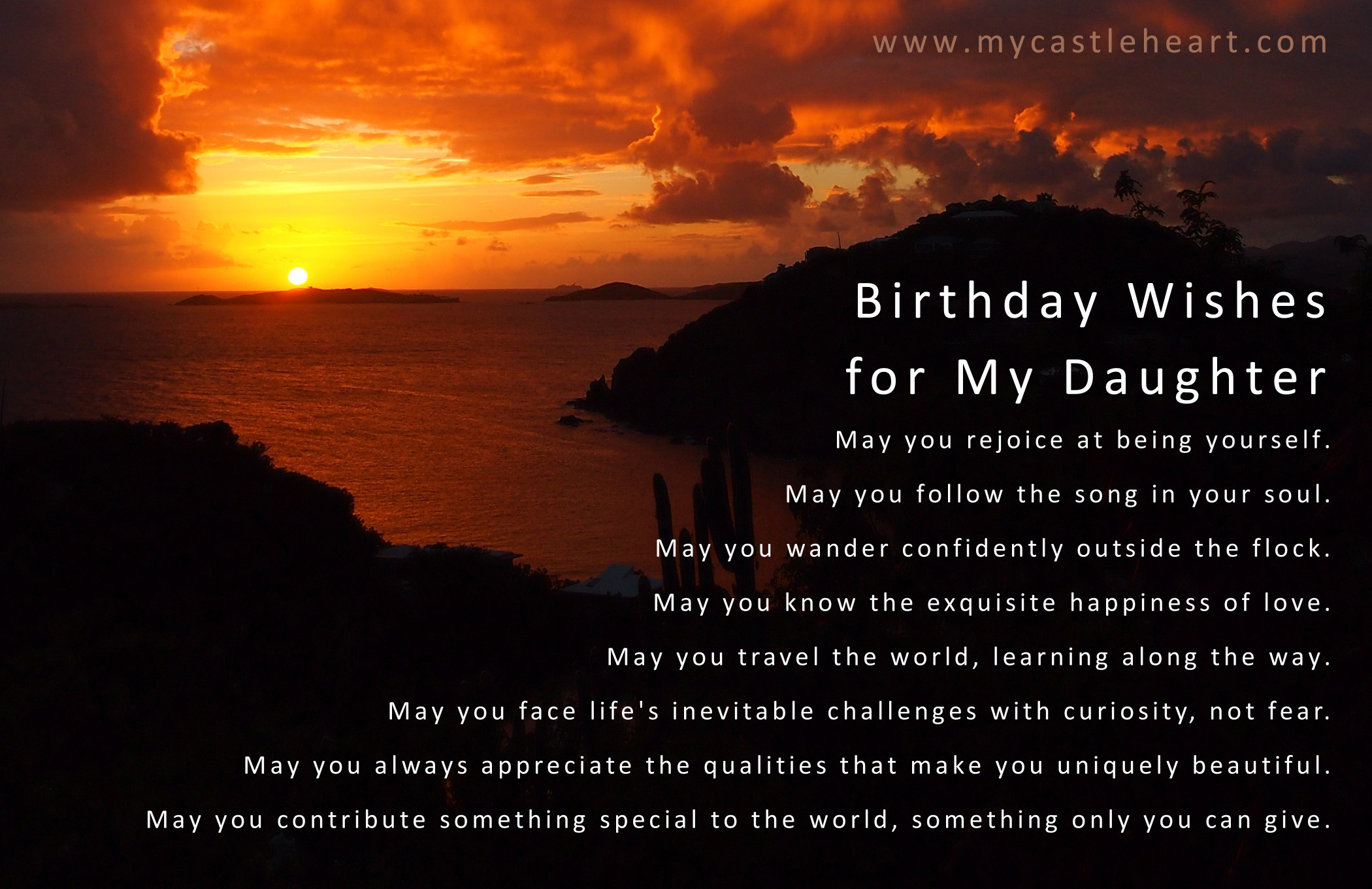 Best ideas about Happy Birthday Wishes To My Daughter . Save or Pin Birthday Wishes for My Daughter Now.