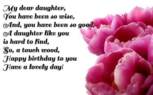 Best ideas about Happy Birthday Wishes To My Daughter . Save or Pin Best Happy Birthday Daughter Now.