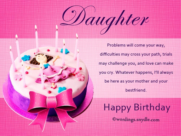 Best ideas about Happy Birthday Wishes To My Daughter . Save or Pin Happy Birthday To My Daughter Wishes And Messages Now.