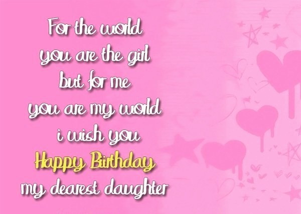 Best ideas about Happy Birthday Wishes To My Daughter . Save or Pin Top 70 Happy Birthday Wishes For Daughter [2019] Now.