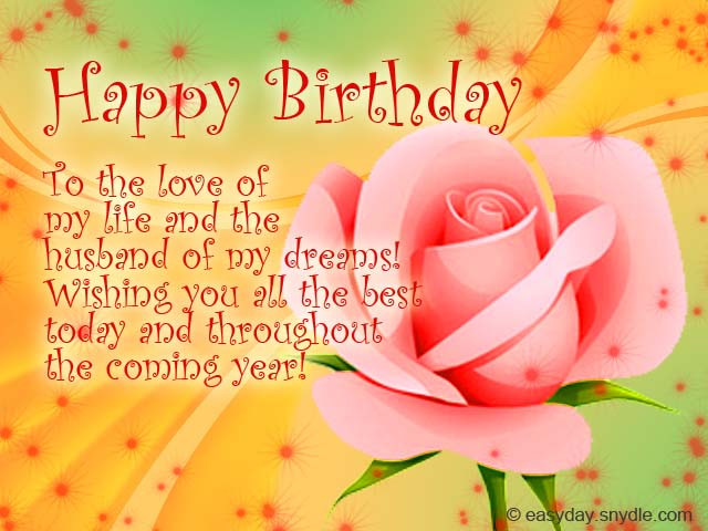 Best ideas about Happy Birthday Wishes To My Husband . Save or Pin Birthday Messages for Your Husband Easyday Now.