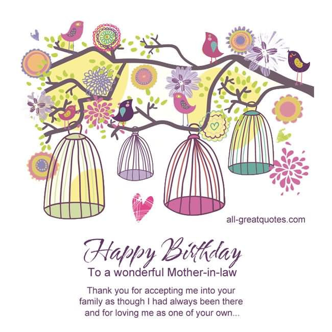 Best ideas about Happy Birthday Wishes To My Mother In Law . Save or Pin Quotes about Accepting in laws 30 quotes Now.