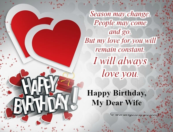 Best ideas about Happy Birthday Wishes To Wife . Save or Pin Happy Birthday Wishes for Wife with Love Birthday Wishes Now.