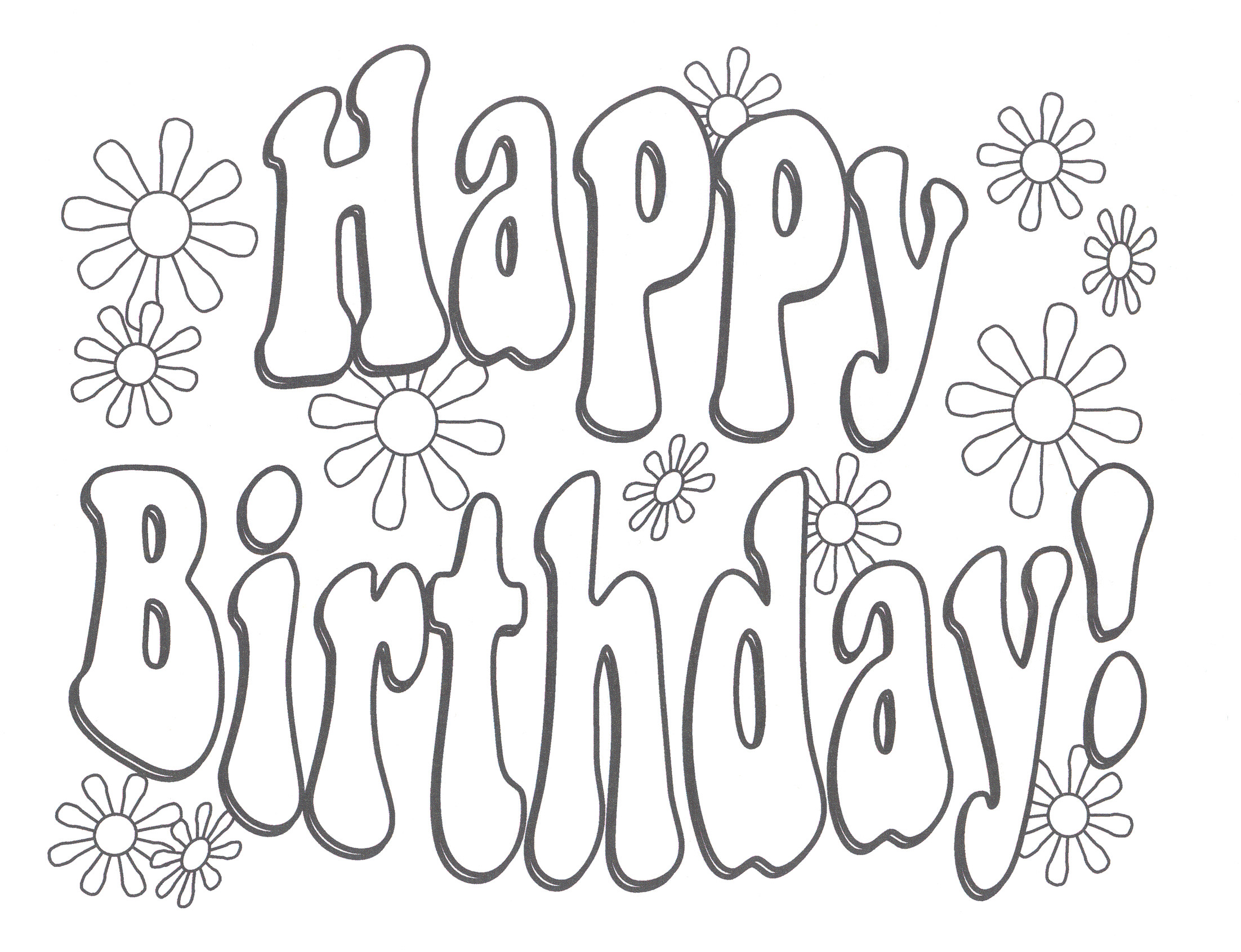 Best ideas about Happy Coloring Sheets For Girls . Save or Pin Happy birthday coloring pages free printable for Now.