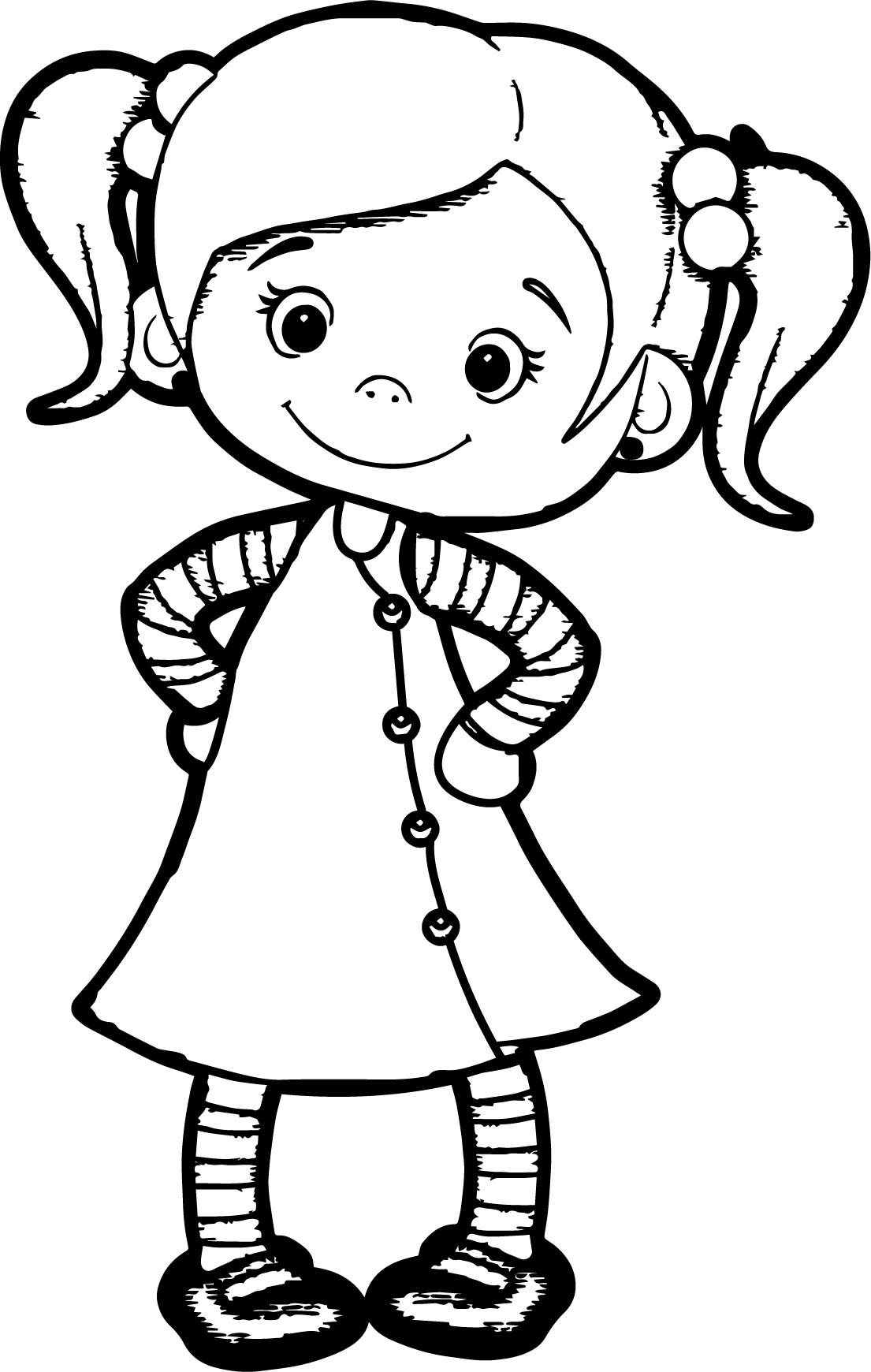 Best ideas about Happy Coloring Sheets For Girls . Save or Pin Cute Girl Cartoon Drawing at GetDrawings Now.