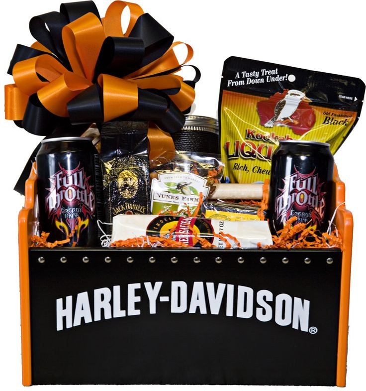 Best ideas about Harley Davidson Gift Ideas . Save or Pin Harley Davidson Basket ts Pinterest Now.