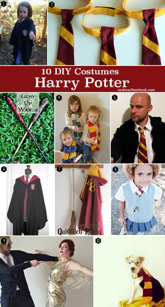 Best ideas about Harry Potter Costume DIY . Save or Pin Harry Potter Costume Tutorials Andrea s Notebook Now.