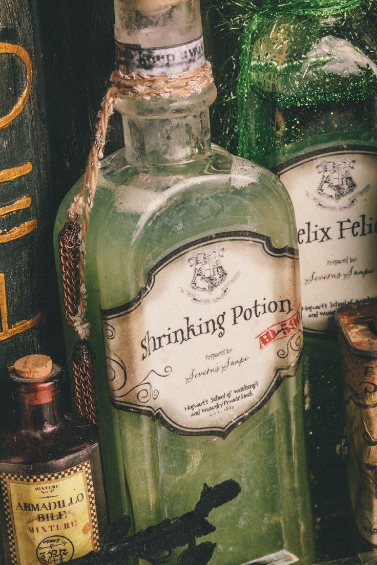 Best ideas about Harry Potter Potions DIY . Save or Pin DYI Harry Potter Potions for Halloween Shrinking Potion Now.