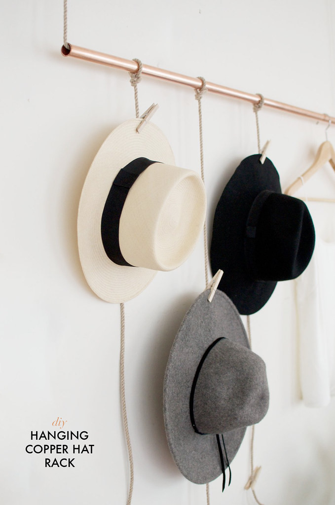 Best ideas about Hat Organizer DIY . Save or Pin DIY Hanging Copper Hat Rack Now.
