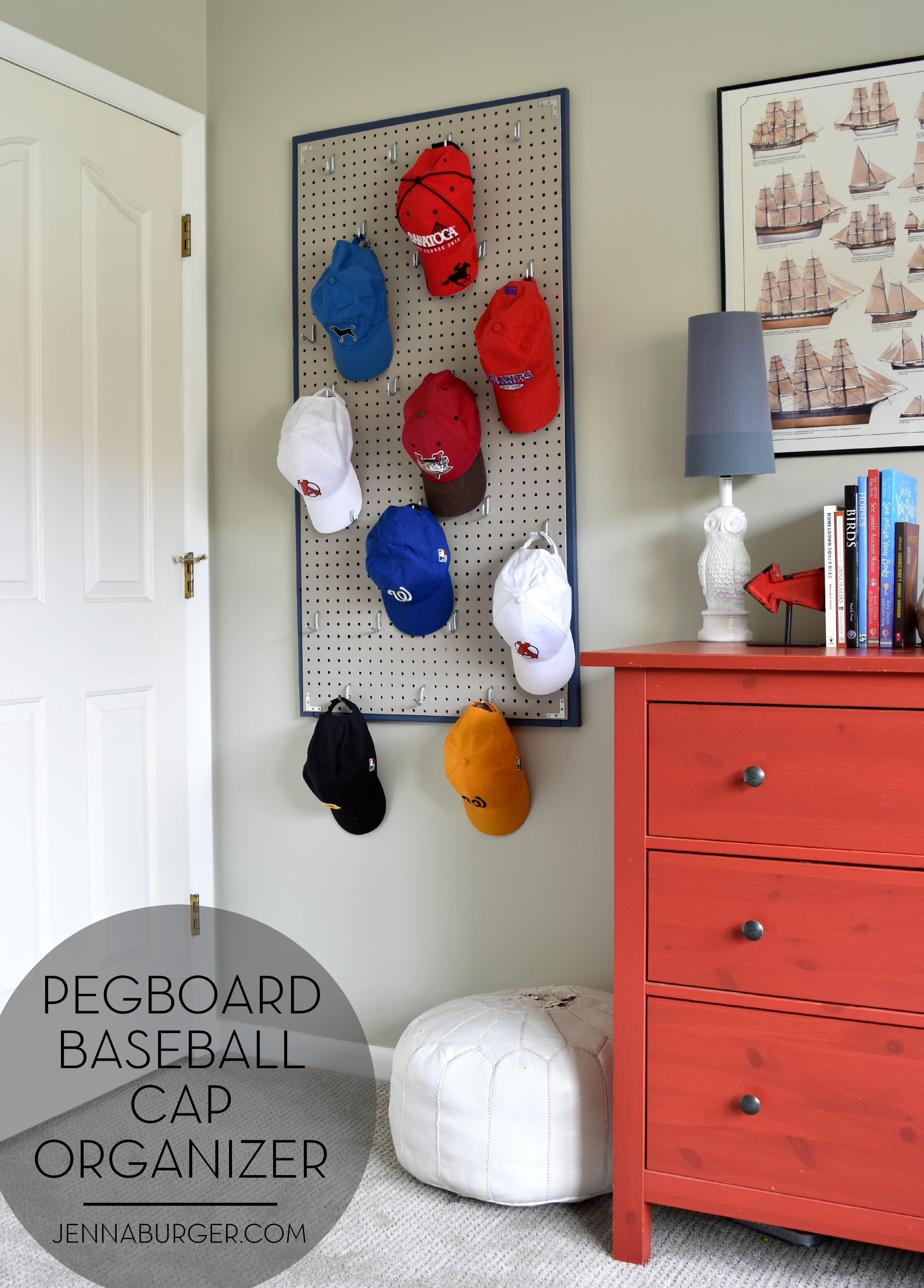 Best ideas about Hat Organizer DIY . Save or Pin Pegboard Baseball Cap Organizer Jenna Burger Now.