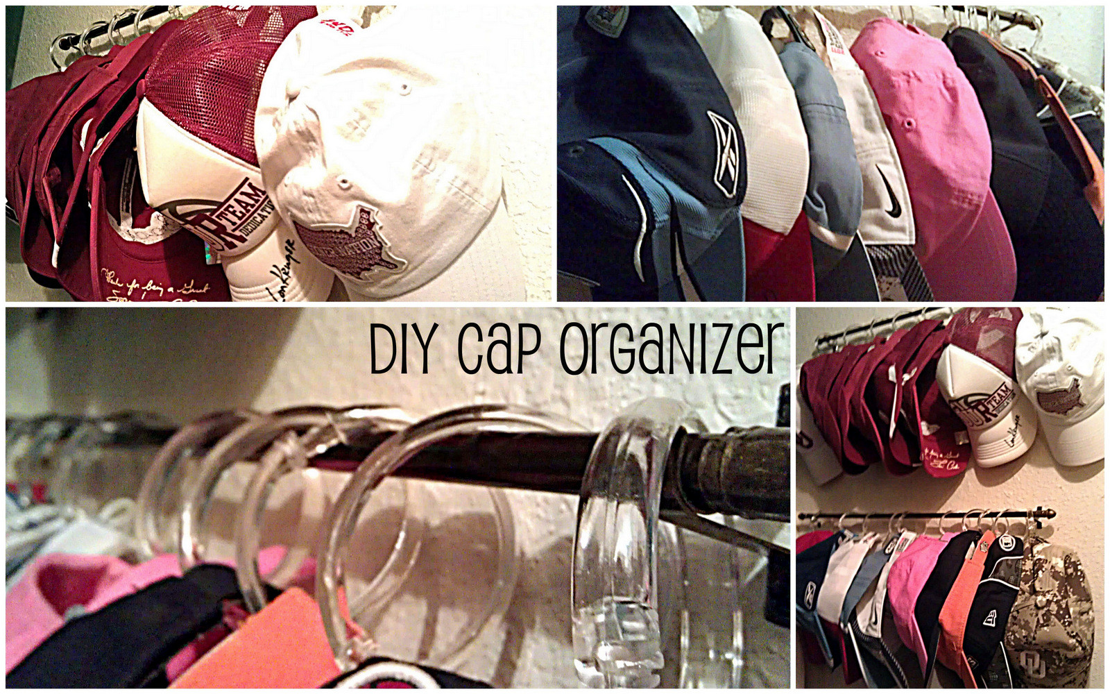 Best ideas about Hat Organizer DIY . Save or Pin Passion Pink & Pearls Baseball Cap Organization DIY Now.
