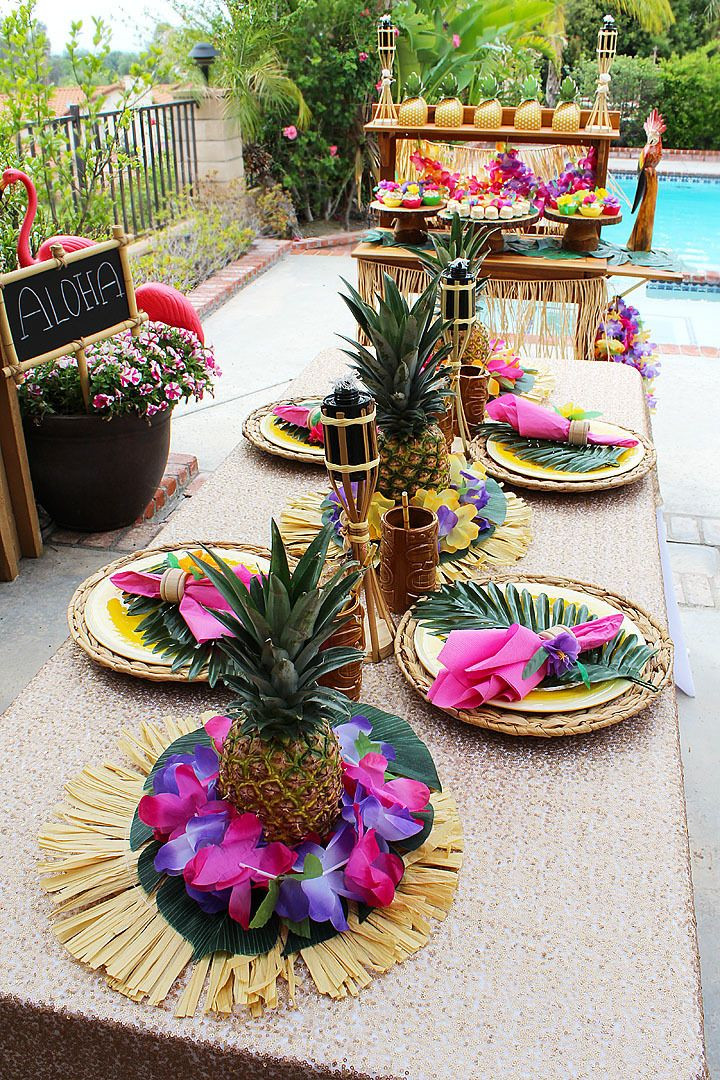 Best ideas about Hawaiian Birthday Decorations . Save or Pin Best 25 Luau centerpieces ideas on Pinterest Now.