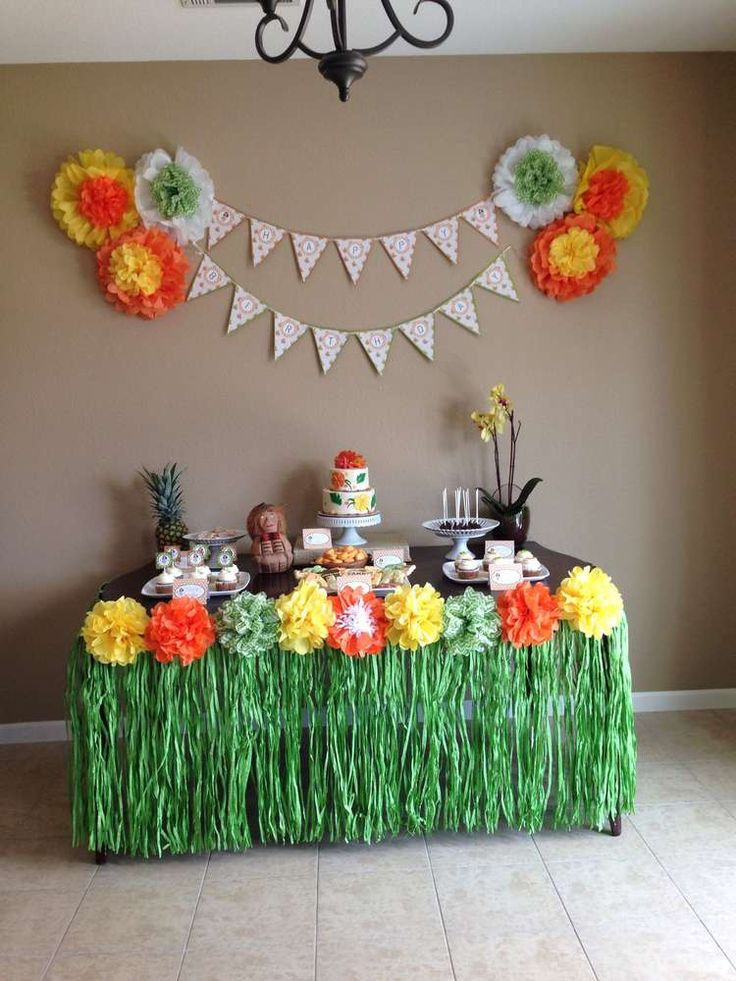 Best ideas about Hawaiian Birthday Decorations . Save or Pin Best 25 Hawaiian party decorations ideas on Pinterest Now.