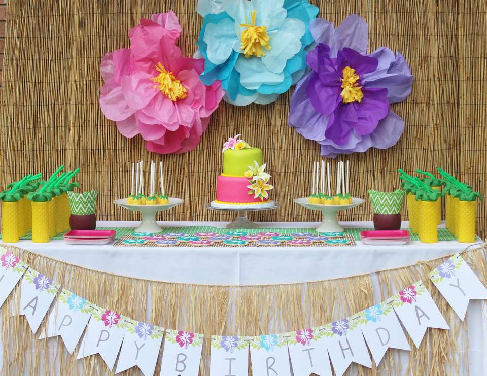 "Best ideas about Hawaiian Birthday Decorations . Save or Pin Hawaii Birthday ""Julieta s Hawaiian 2nd Birthday Party Now."